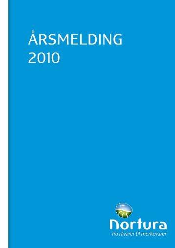 ÅRSMELDING 2010 - Nortura