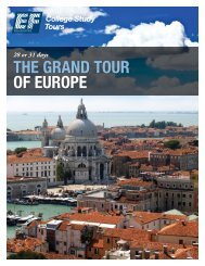 THE GRAND TOUR OF EUROPE - EF College Study Tours