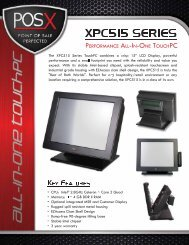 XPC515 Series Specifications - Touch Screens Inc.