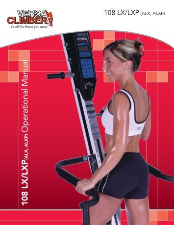 User / Operation Manual - VersaClimber