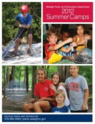 2012 SummerCamps - City of Raleigh