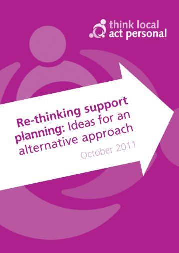 Re-thinking support planning: Ideas for an alternative approach