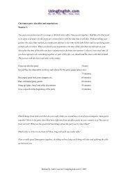 Cambridge Advanced (CAE) Use of English Practice- Answers
