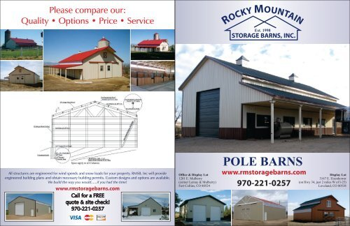 Rmsb Pole Barn Brochure Cdr Rmstoragebarns Com