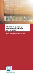 Pension Protection Act of 2006 - TIAA-CREF