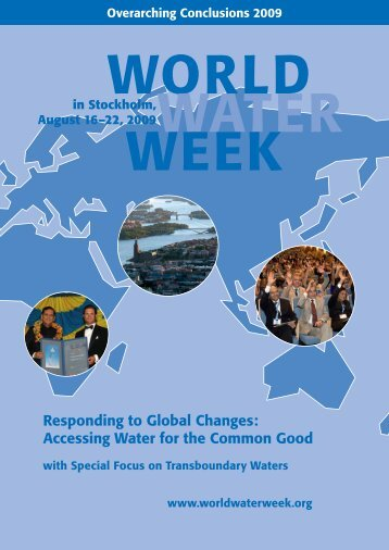 2009 Overarching Conclusions - World Water Week