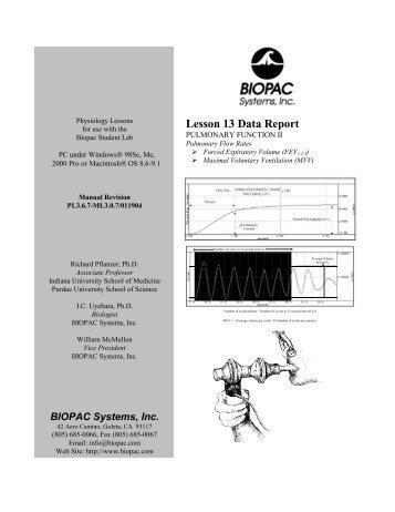 Lesson 13 Data Report - Biopac
