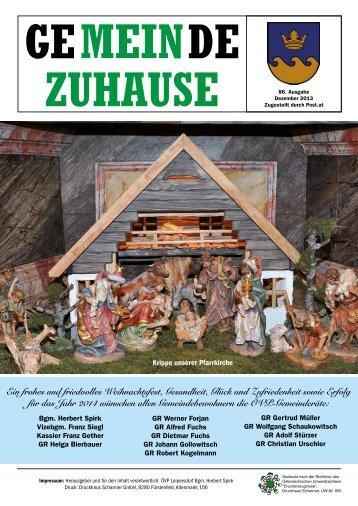 Gemeinde Zuhause 4/2013 (PDF) - Gemeinde Loipersdorf