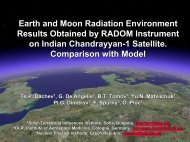 Earth and Moon Radiation Environment Results ... - Wrmiss.org