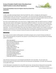 Survey of Academic Health Centers Educating Future Health ...