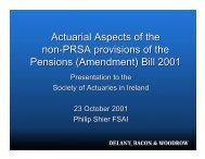 Bill 2001 - Society of Actuaries in Ireland