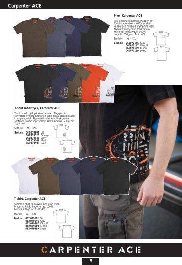 T-shirts, skjortor etc.
