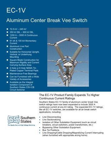 Aluminum Center Break Vee Switch