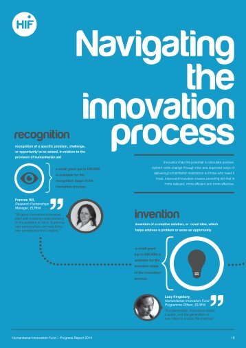 Navigating the innovation process