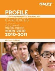 Profile of GMAT Candidates - Graduate Management Admission ...