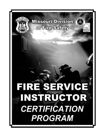 Instructor Certification Booklet 09-12.pmd - Missouri Division of Fire ...
