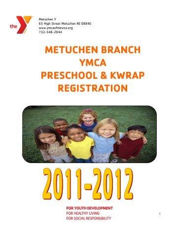 metuchen branch ymca preschool & kwrap registration