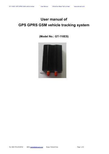 user manual gps tracker gt 06334