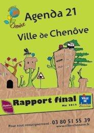 Rapport - Ville de Chenôve