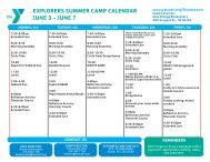 explorers summer camp calendar june 3 - YMCA of San Francisco