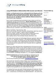 Pressemitteilung als PDF - VolkswagenStiftung : Seite nicht gefunden