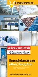 Flyer der Verbraucherzentrale Rheinland-Pfalz - Cochem-Zell ...
