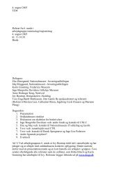 Arbejdsgruppe vedr. registrering og terminologi 4. august 2005