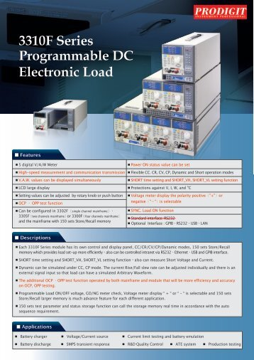 Electronic Load 3310F Series Programmable DC