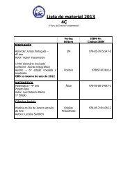 Materiealliste/Lista de material 2007 - Escola Alemã Corcovado