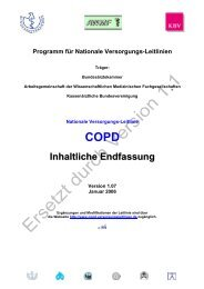 COPD Inhaltliche Endfassung - Nationale VersorgungsLeitlinien