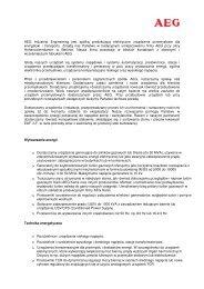AEG Industrial Engineering informacje ogólne