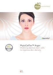 PhytoCellTec™ Argan Vitalizing dermal stem cells to improve skin ...