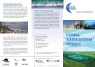 GLOBAL WATER SYSTEM PROJECT - GWSP