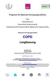 COPD Langfassung - Versorgungsleitlinien.de