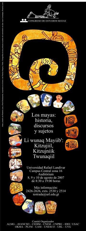 Los mayas - Universidad Rafael Landívar