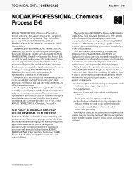 KODAK PROFESSIONAL Chemicals, Process E-6