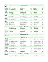 Gesamtspielplan Saison 12/13 - VfB Reichenbach/Fils
