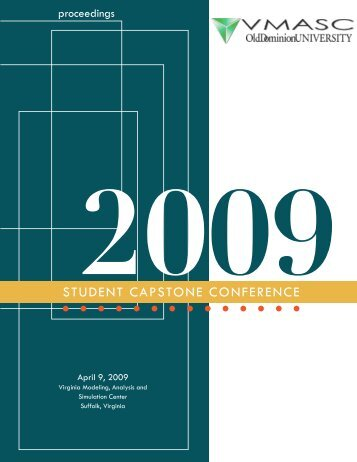 2009 Student Capstone Proceedings - the Virginia Modeling ...