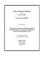 2007 SUMMARY REPORT - Lake County Health Department - Lake ...