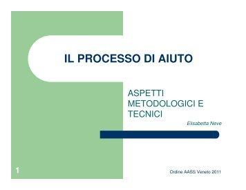 IL PROCESSO DI AIUTO - Ordine degli Assistenti Sociali del Veneto