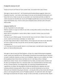 Predigt OJK Johannes 16, 23 ff Gnade sei mit euch und Friede von ...