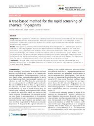 A tree-based method for the rapid screening of chemical fingerprints