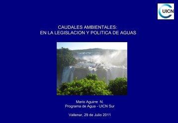 CAUDALES AMBIENTALES: EN LA LEGISLACION Y ... - cazalac