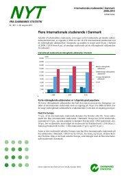 Internationale studerende i Danmark 2008-2010 - Danmarks Statistik