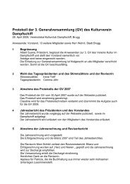 Protokoll der 3. Generalversammlung (GV) des ... - Dampfschiff