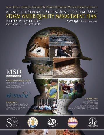 December 2012 SWQMP - MSD