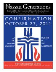 October - Nassau Presbyterian Church