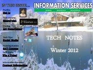Information Services Winter 2012 Newsletter - West Chester University