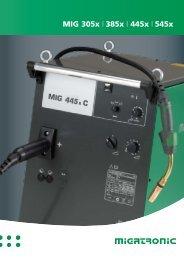 MIG 305x | 385x | 445x | 545x - STS Schweißtechnik GmbH und Co.Kg