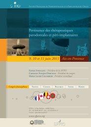 9, 10 et 11 juin 2011 Aix-en-Provence - Quintessence International